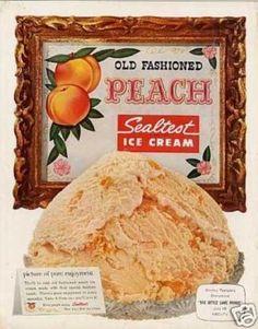 Sealtest Old Fashioned Peach Ice Cream (1958)