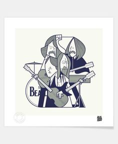 Fab Four as Limited Edition Art Print by Ale Giorgini | JUNIQE