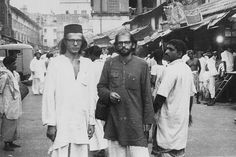 A snapshot of Peter Orlovsky and Allen Ginsberg in India, 1962.