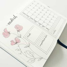 bujo bullet journal inspiration and weekly spreads Bullet Journal Inspo, Bullet Journal Doodles, March Bullet Journal, Bullet Journal Monthly Spread, Bullet Journal Layout, Journal Inspiration, Bujo, Kalender Design, Journal Pages