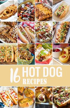 16 AMAZING HOT DOG RECIPES to make any BBQ complete! Perfect hot dog recipes…