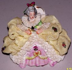 Antique Dresden Lace Figurine Germany