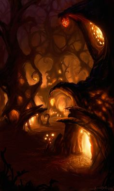 The Art Of Animation, Jeremy Vickery ~those glowing rickety things. like pinecones or fruits