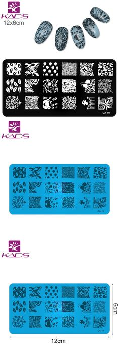 [Visit to Buy] KADS Beauty Nail Stamp Leaves Decorations Nail Stamping Plates Stamping Nail Art Manicure Template Stamp Nail Tools #Advertisement