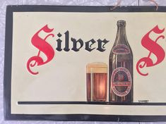 Silver Spring Ale Beer Embossed Tin Sign Canada by Streetreasure