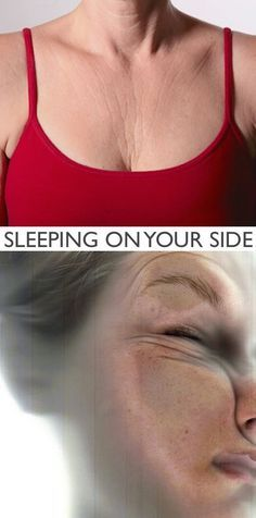 #3. Sleeping on your side (ages you 10+ years!)   20 Beauty Mistakes You Didn't Know You Were Making   thebeautyspotqld.com.au