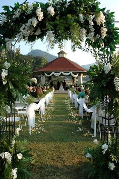 Officiating here this evening. Lake Lure Gazebo - lovely place for a wedding, and great people to work with.