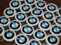 we are LOVING these BMW cupcakes