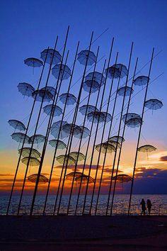Greece Sunset Silhouette