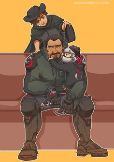 "glassyhattything: ""Gabe with his sons(?) """
