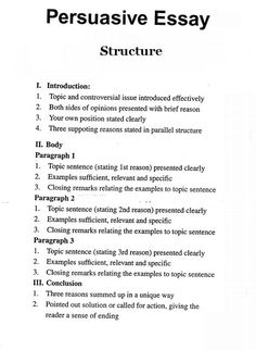 001 5 Paragraph GED Essay Sample Outline of a Five Paragraph