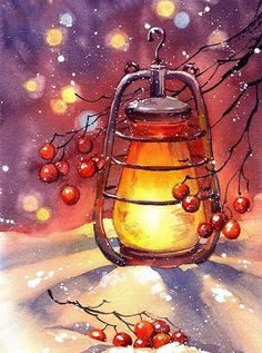 Watercolor Christmas Cards, Christmas Drawing, Christmas Paintings, Christmas Canvas, Christmas Art, Xmas, Beautiful Christmas, Vintage Christmas, Christmas Holidays