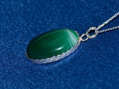 Funda1 / Green Agate Necklace various shades of by gejewellery