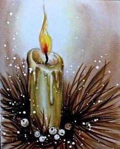 Watercolor Christmas Cards, Christmas Card Crafts, Christmas Lanterns, Christmas Drawing, Christmas Clipart, Christmas Paintings, Vintage Christmas Cards, Watercolor Cards, Christmas Art