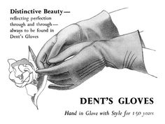 Dent's Gloves ads, 1948. #vintage #1940s #gloves