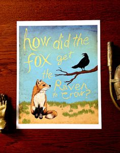 The Fox and The Raven 8x10 Illustrated Art Print by Earmark Social