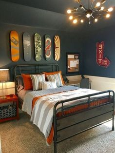 Teen Boy Bedroom Furniture 20 Affordable Bedroom Decor Ideas for Your Little Boys Boys Bedroom Colors, Boys Bedroom Paint, Boys Bedroom Furniture, Boys Bedroom Decor, Small Room Bedroom, Modern Bedroom, Boy Bedroom Designs, Teen Boy Bedrooms, Furniture Ideas