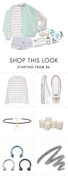 """- Can't"" by meep1213 ❤ liked on Polyvore featuring Levi's, Converse, Joolz by Martha Calvo, Tocca and Yves Saint Laurent"
