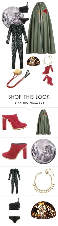 """""""AJ fell into the firepit"""" by thedeannaelizabeth on Polyvore featuring Proenza Schouler, Maison Margiela, Seletti, Fleur du Mal, Chloe + Isabel, kiini and Good Directions"""