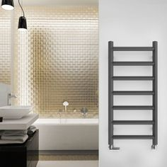 Add a contemporary sparkle to your bathroom with the unique aesthetic of our Terma Crystal Designer Towel Rail in a sophisticated sparkling grey finish. Bathroom Radiators, Towel Radiator, Coat Paint, Bathroom Interior, Bathroom Ideas, Bathroom Inspiration, Towel Warmer, Heated Towel Rail, Family Bathroom