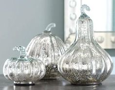 mercury glass gourds from Wisteria
