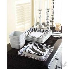 Zebra party, zebra print tableware