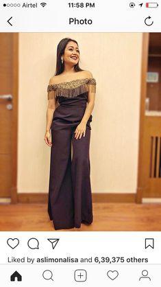 Neha Kakkar Hot and beautiful Photos Indian Fashion Dresses, Indian Gowns Dresses, Fashion Outfits, Stylish Dress Designs, Stylish Dresses, Neha Kakkar Dresses, Fashion Illustration Dresses, Indian Attire, Indian Wear