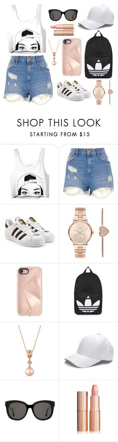"""""""The Mali Roberts"""" by brontexxx ❤ liked on Polyvore featuring River Island, adidas Originals, Michael Kors, Rebecca Minkoff, Topshop, LE VIAN and Gentle Monster"""