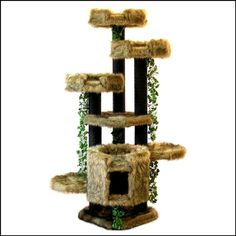 6' BEST CAT TREES Condos Designer Cat Beds Modern by IncredibleCat