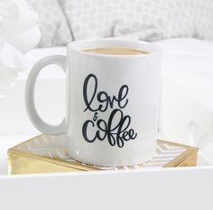 Love and Coffee mug #sarahynesdesigns