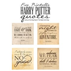 Free Harry Potter Quotes Printables   [ One Velvet Morning ]