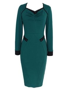 Elegant V Neck Bodycon Dress #ClothingOnline #PlusSizeWomensClothing #CheapClothing #FashionClothing #womenswear #sexydress #womensdress #womenfashioncasual #womensfashionforwork  #fashion #womensfashionwinter