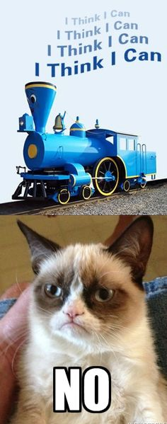 Grumpy Cat and the Little Engine that could or couldn't .....