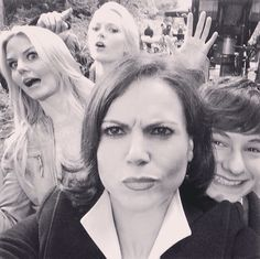 #OUAT Behind the scenes with Jennifer Morrison, Lana Parilla and Jared Gilmore from Season 4