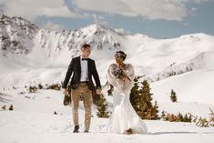 Snowy Winter Wedding Photo
