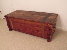 Allexperts Image: Frank W Williams cedar chest Repurposed Furniture, Rustic Furniture, Antique Furniture, Drawer Table, Table Storage, Southwest Decor, Vintage Box, Empire, Diy Table