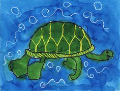 Art projects for kids sea turtle painting, sea turtle art, Classroom Art Projects, School Art Projects, Art Classroom, Sea Turtle Painting, Sea Turtle Art, Sea Turtles, Animal Art Projects, Easy Art Projects, Site Art