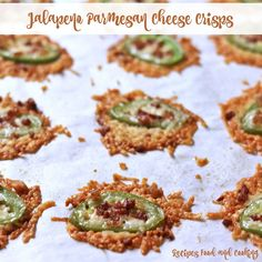 Grated Parmesan Cheese with jalapeno slices topped with bacon bits. Ooey Gooey Butter Cake, Gooey Cake, Parmesan Cheese Crisps, Pressure Cooker Pork, Pecan Pie Filling, Swiss Steak, Sour Cream Sauce, Ketogenic Recipes, Ketogenic Diet