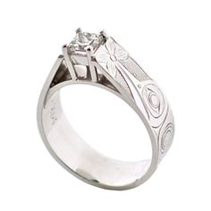 This is a stunning and modern engagement style ring by Haida artist, James McGuire. Set in white gold with a carat Canadian diamond. Contact us for current quotes. Canadian Diamonds, Thing 1, Modern Engagement Rings, 2 Carat, Jewelry Art, Gold Rings, Jewelery, White Gold, Bling