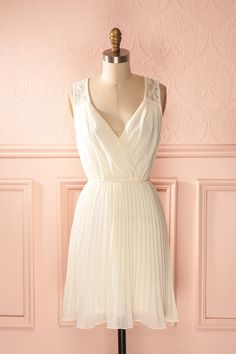 Catina - Cream veil sleeveless lace accent dress....dresses at this Canadian shop are gorgeous....
