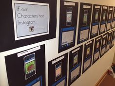 Classroom Freebies: If Our Characters Had Instagram (cute activity & bulletin board!)