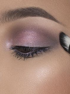 Cool-Toned Monochromatic Makeup Tutorial - Prom Makeup Looks - Maybelline Prom makeup -- prom eye makeup or prom makeup for red dress Click visit link for Makeup With Purple Dress, Prom Makeup For Brown Eyes, Prom Makeup Looks, Makeup For Teens, Blue Eye Makeup, Eye Makeup Tips, Cute Makeup, Smokey Eye Makeup, Simple Makeup
