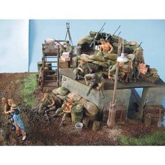 G.I. rest and relax on FOB Vietnam 1968 1/35 scale by ademodelart from pinterest #scalemodel #plastimodelismo #miniatura #miniature #miniatur #hobby #diorama #humvee #scalemodelkit #plastickits #usinadoskits #udk #maqueta #maquette #modelismo #modelism