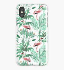 Tropical flamingo watercolor iPhone Case/Skin