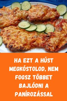 Remek ötlet! #rántott #hús Hungarian Recipes, Food 52, Potato Recipes, Meal Prep, Food And Drink, Cooking Recipes, Meals, Chicken, Baking