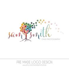 Pre made Photography Logo, watercolor design, photography, watermark, painted, OOAK design - Newborn photography logo, maternity logo