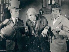 Chaplin, John Barrymore, & Douglas Fairbanks clowning on the set of Barrymore's film Beau Brummel, 1924.