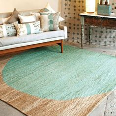 hemp rug for the dining room