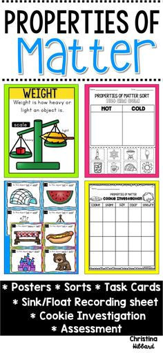 Fun activities to use with your Properties of Matter unit.