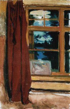 Akseli Gallen Kallela painting of Kalelas Library in Moonlight
